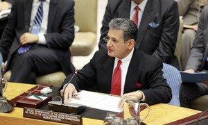 Le Représentant spécial du Secrétaire général pour le Kosovo, Farid Zarif. ONU Photo/Rick Bajornas