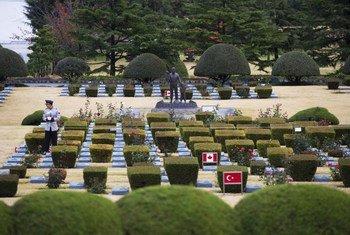 Le cimetière mémorial de l'ONU à Busan, en République de Corée.
