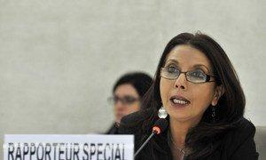La Rapporteure spéciale de l'ONU, Najat Maalla M'jid.