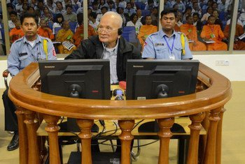 Nuon Chea at the Extraordinary Chambers in the Courts of Cambodia on 5 December 2011