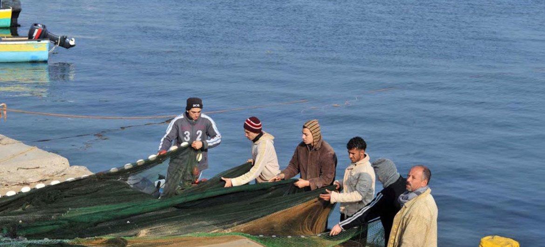 Fishermen in Gaza