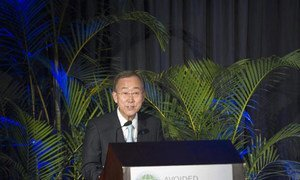 Secretary-General Ban Ki-moon addresses high-level forum on international forest protection in Durban, South Africa