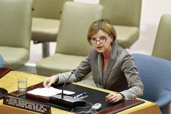 La Représentante spéciale Karin Landgren. Photo ONU/Rick Bajornas