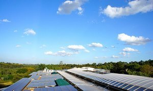 A UNEP solar energy system, the largest of its type in Africa.