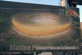 Poster of the Polish Energy Group (PGE) stadium in  Gdansk, Poland