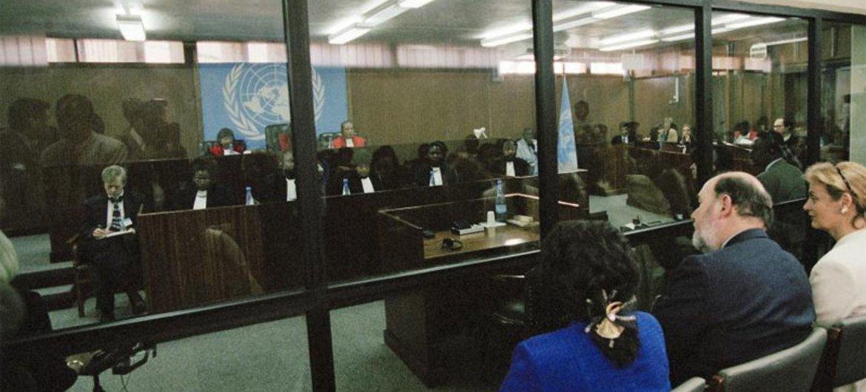 A hearing of the International Criminal Tribunal for Rwanda ICTR) in 1998.