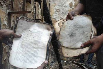 A fire at the Institute of Egypt destroyed about 70 per cent of its valuable collection of manuscripts