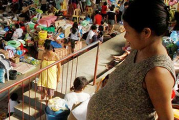 UNFPA is working to provide essential reproductive-health supplies to help more than 12,000 pregnant and lactating women in evacuation centres