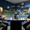 Secretary-General Bank Ki-moon (left) sits down for an interview with UN News about his first term as Secretary-General of the United Nations and his priorities for his second term.