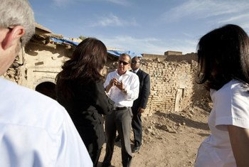 SRSG for Iraq, Martin Kobler, visits the Erbil Citadel in October 2011.