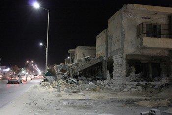 Misrata a été sérieusement endommagée par des combats lors de la guerre civile en Libye en 2011.