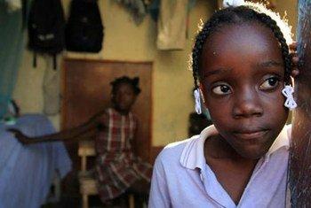 Niña haitiana (Foto de archivo)