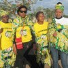 Supporters of the African National Congress attend a rally in Johannesburg, South Africa