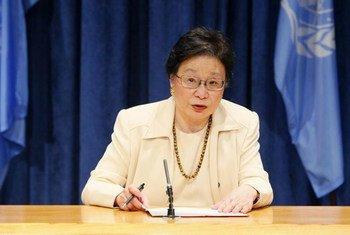 La Sous Secrétaire générale des Nations Unies aux affaires humanitaires, Catherine Bragg. Photo ONU/JC McIlwaine