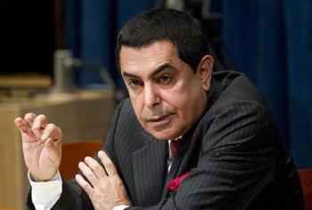 Le Président de l'Assemblée générale, Nassir Abdulaziz Al-Nasser. Photo ONU/Evan Schneider