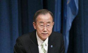 Secretary-General Ban Ki-moon holds press conference.