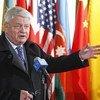 Le Secrétaire général adjoint aux opérations de maintien de la paix, Hervé Ladsous. Photo ONU/Devra Berkowitz