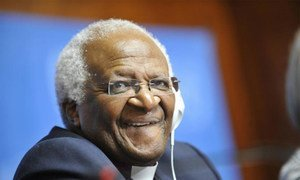 L'archevêque Desmond Tutu. Photo ONU/Jean-Marc Ferré