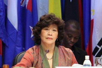 La Secrétaire exécutive de la Commission économique et sociale des Nations Unies pour l'Asie et le Pacifique (CESAP), Noeleen Heyzer.