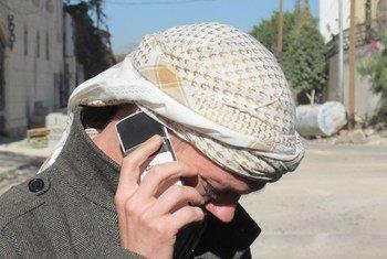 L'employé de l'ONU retenu en otage depuis le 15 janvier appelle chez lui après sa libération. Photo : PNUD/Noeman Alsayyad