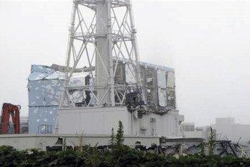 Planta destruida<br>de Fukusima Daiichi