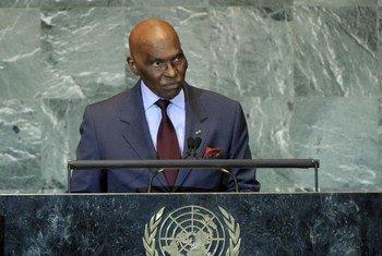 President of Senegal Abdoulaye Wade.