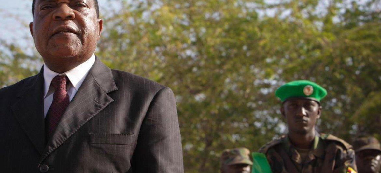 Le Représentant spécial du Secrétaire général pour la Somalie, Augustine Mahiga. Photo ONU/Stuart Price
