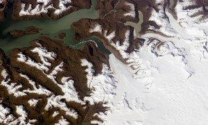Le glacier de Jorge Montt, en Patagonie du Sud.