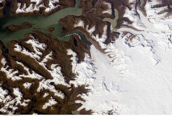 Jorge Montt Glacier, Southern Patagonian Ice Field, Chile. Photo: NASA