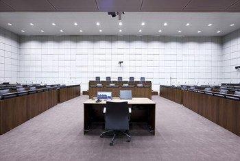 Salle d'audience du Tribunal spécial pour le Liban.