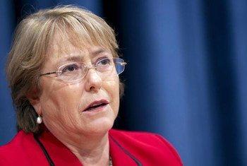 Michelle Bachelet, Directrice exécutive de l'ONU-Femmes. Photo ONU/Mark Garten