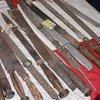 Ceremonial knives used in FGM/C by members of the Bondo society in Sierra Leone.