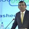 L'ancien Président des Maldives Mohamed Nasheed en septembre 2011. Photo ONU/Jean-Marc Ferré