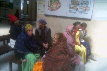 Пациенты с проказой в одной из поликлиник в Непале