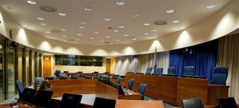 Salle 1 du Tribunal pénal international pour l'ex-Yougoslavie (TPIY).