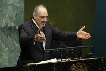 El representante permanente de Siria ante la ONU, Bashar Jafaari  Foto: