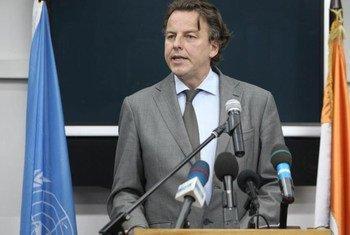 Le Représentant spécial de l'ONU en Côte d'Ivoire, Bert Koenders. Photo ONU/Patricia Esteve