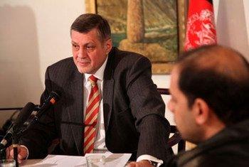Le Représentant spécial pour l'Afghanistan, Jan Kubis. Photo MANUA/Iskander Soltani