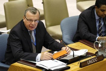 UNODC Executive Director Yury Fedotov addresses the Security Council on the situation in Somalia.