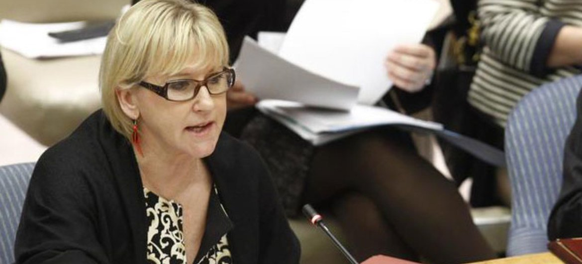 Special Representative Margot Wallström presents the Secretary-General's report on conflict-related sexual violence to the Security Council.