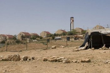 إحدى المستوطنات الإسرائيلية من منطقة تجمع لبدو أم الخير في الضفة الغربية