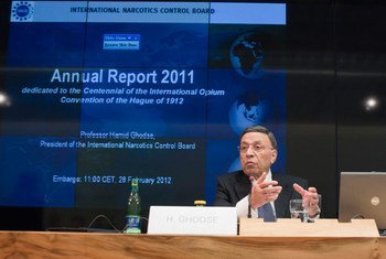 Hamid Ghodse, President of the International Narcotics Control Board, launches 2011 annual report.