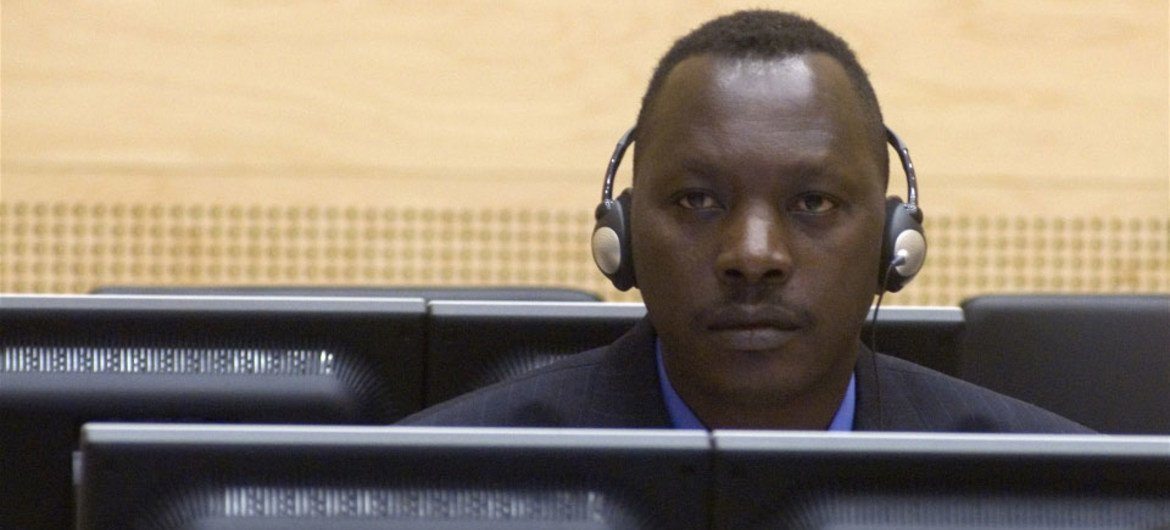 Thomas Lubanga Dyilo at his first appearance before the ICC in March 2006.