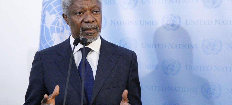 Joint UN-Arab League Special Envoy on Syria Kofi Annan.