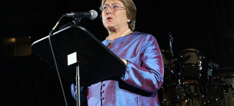 UN Women Executive Director Michelle Bachelet.