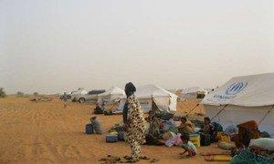 Malian refugees in Mbera camp.