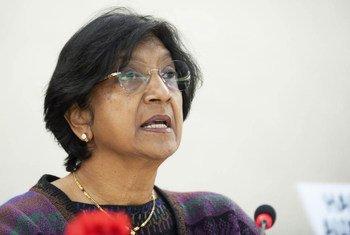 La Haut commissaire des Nations Unies aux droits de l'homme, Navi Pillay. Photo ONU/Jean-Marc Ferré