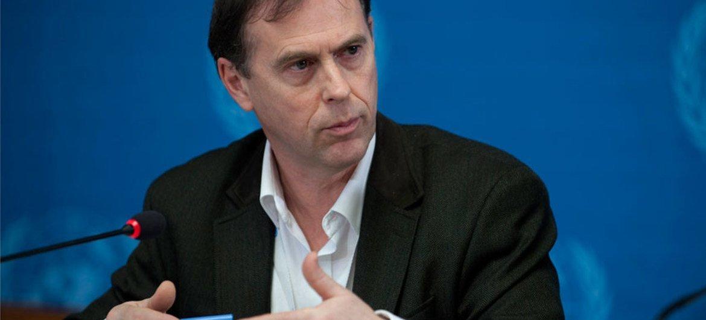 Rupert Colville, porte-parole du Haut commissariat des Nations Unies aux droits de l'homme (HCDH). Photo ONU/Jean-Marc Ferré