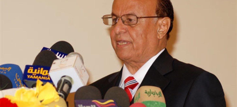 President Abdrabuh Mansour Hadi Mansour of Yemen.