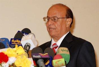 Le Président du Yémen Abd Rabbuh Mansour Ali.